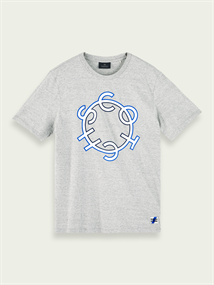 Scotch & Soda t-shirts 156804 in het Licht Grijs