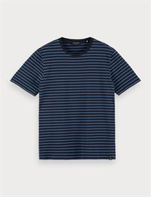 Scotch & Soda t-shirts 160847 in het Donker Blauw