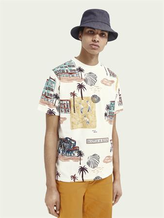 Scotch & Soda t-shirts 160850 in het Wit