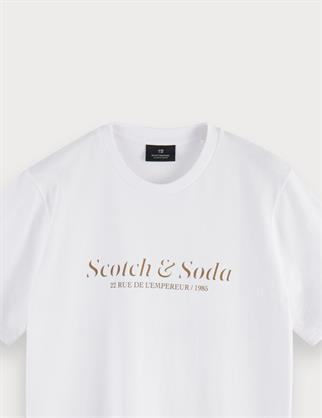 Scotch & Soda t-shirts 160860 in het Wit