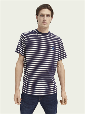 Scotch & Soda t-shirts 161437 in het Wit/Blauw