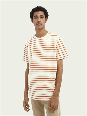 Scotch & Soda t-shirts 162372 in het Wit/Rood