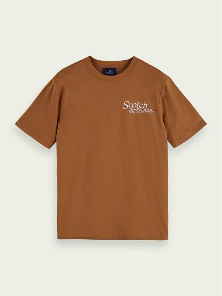Scotch & Soda t-shirts 162374 in het Bruin
