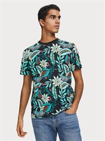 Scotch & Soda t-shirts Slim Fit 155399 in het Zwart