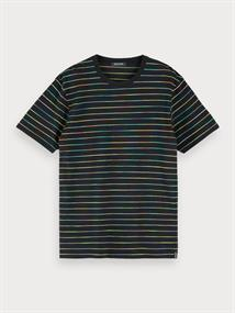 Scotch & Soda t-shirts Slim Fit 155415 in het Zwart