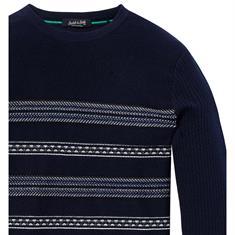 Scotch & Soda truien Slim Fit 145593 in het Donker Blauw