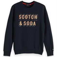Scotch & Soda truien Slim Fit 150525 in het Donker Blauw