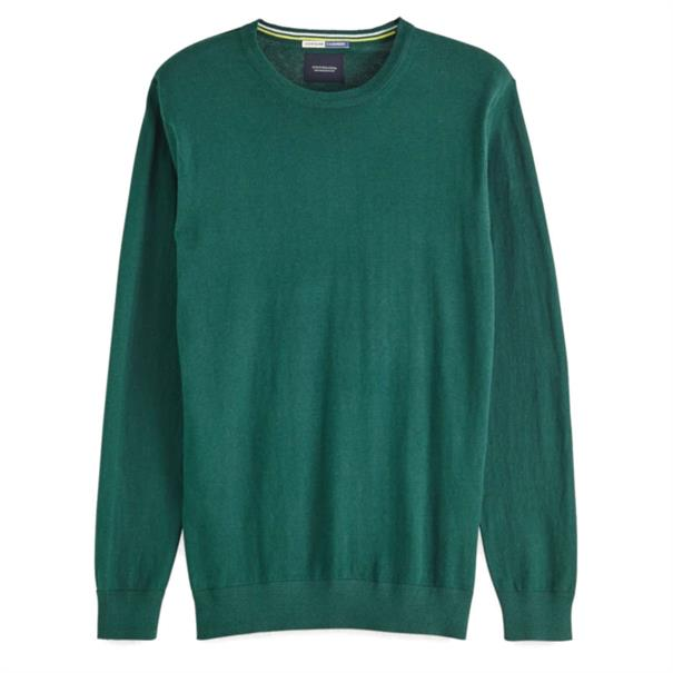 Scotch & Soda truien Slim Fit 150556 in het Donker Groen