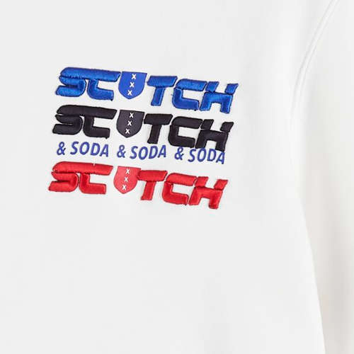 Scotch & Soda truien Slim Fit 152227 in het Wit