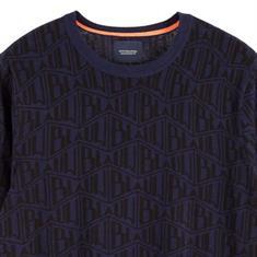 Scotch & Soda truien Slim Fit 153635 in het Donker Blauw