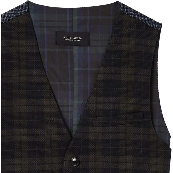 Scotch & Soda vest 145293 in het Groen