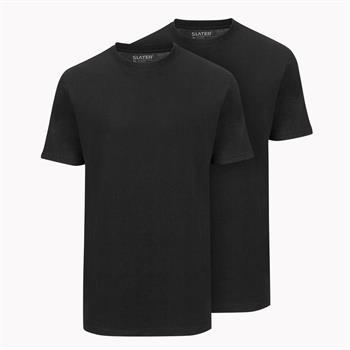 Slater t-shirts Basic 2520 in het Zwart