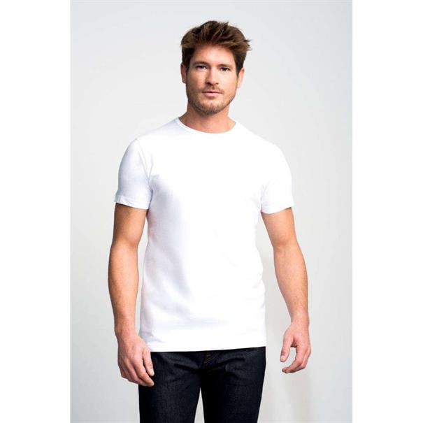 Slater t-shirts Basic 7500 in het Wit