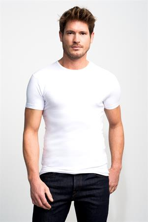 Slater t-shirts Stretch Fit 6500 in het Wit