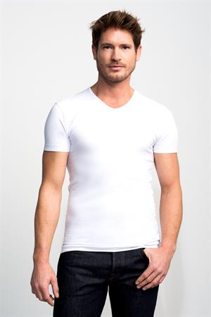 Slater t-shirts Stretch Fit 6600 in het Wit