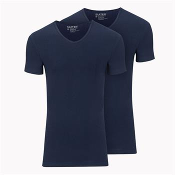 Slater t-shirts Stretch Fit 6610 in het Marine
