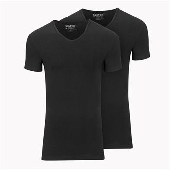 Slater t-shirts Stretch Fit 6620 in het Zwart