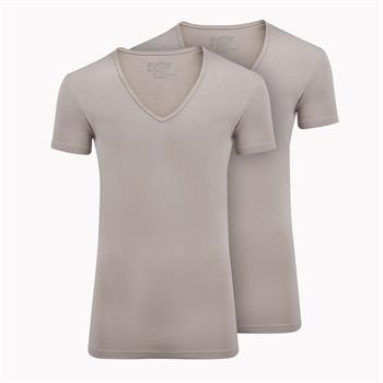 Slater t-shirts Stretch Fit 6740 in het Khaky beige