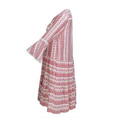 Smashed Lemon jurk 20159 in het Wit/Rood