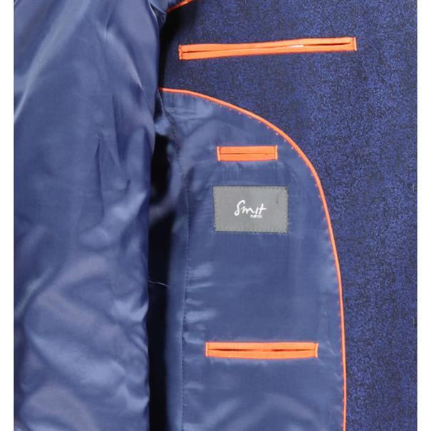 Smit Mode colbert s26204-4 in het Donker Blauw