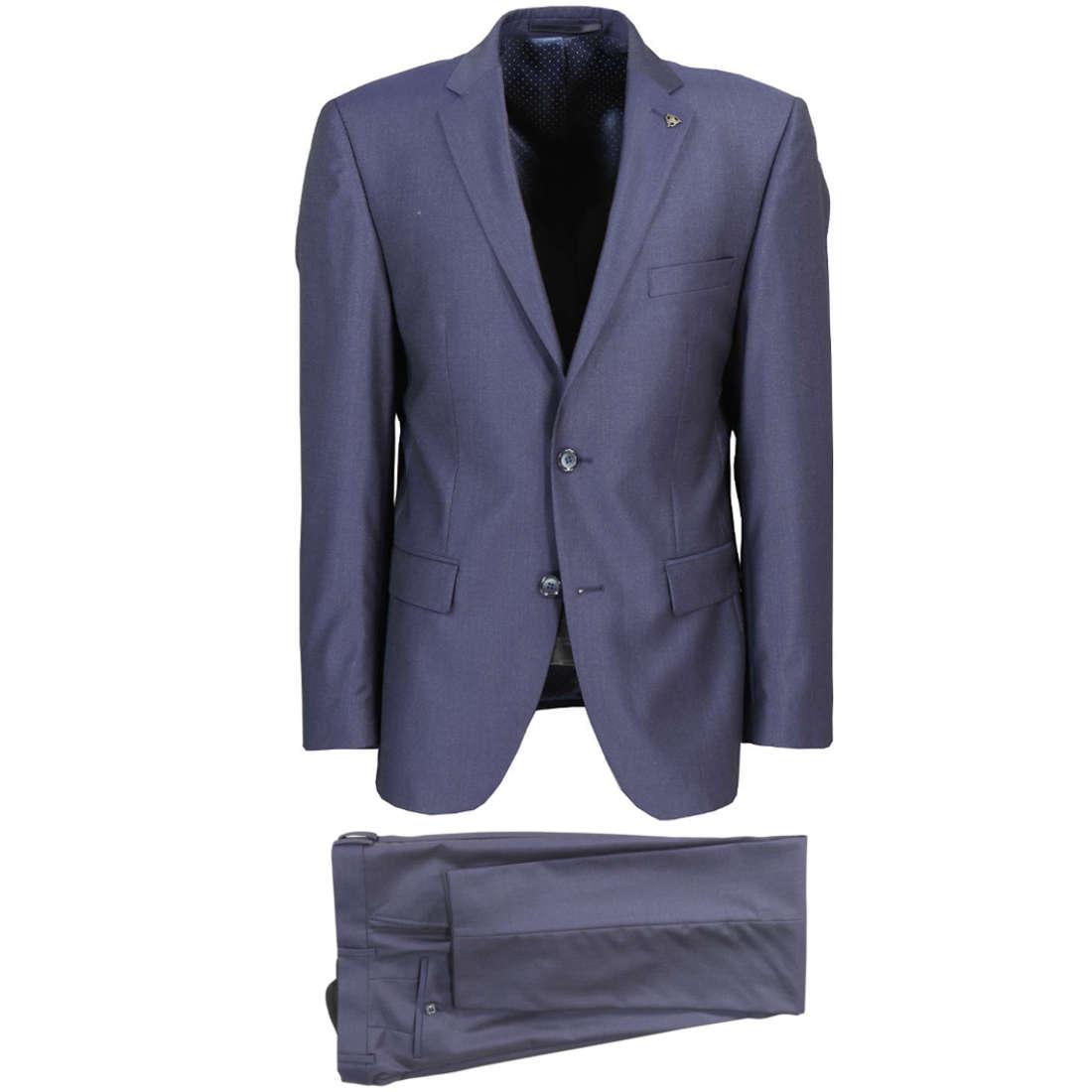 Smit Mode kostuum Slim Fit 203003-drop8 in het Blauw