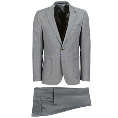 Smit Mode kostuum Slim Fit 203003-drop8 in het Licht Grijs