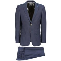 Smit Mode kostuum Slim Fit 203007-drop8 in het Marine