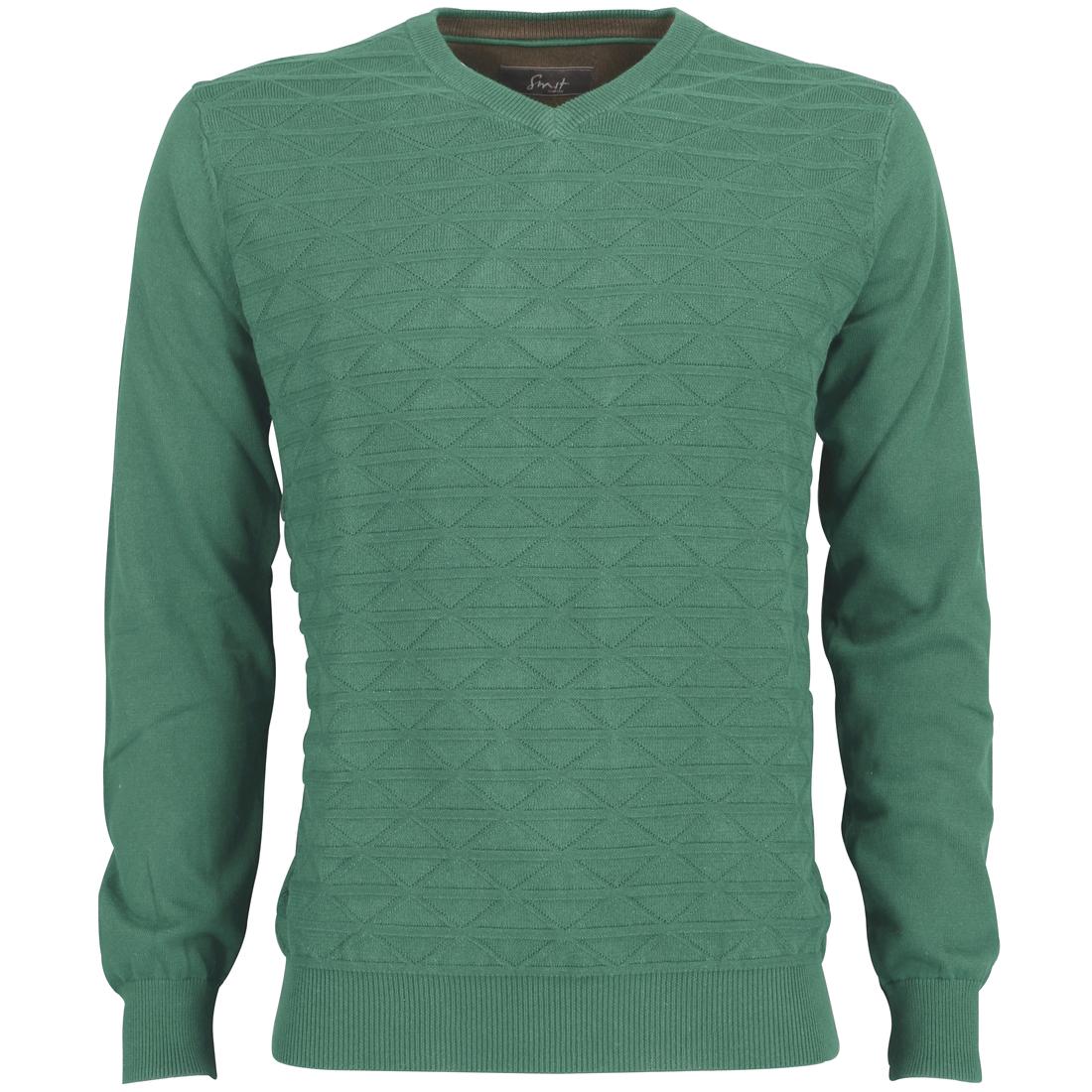 Smit Mode trui 82-8106-6 in het Donker Groen