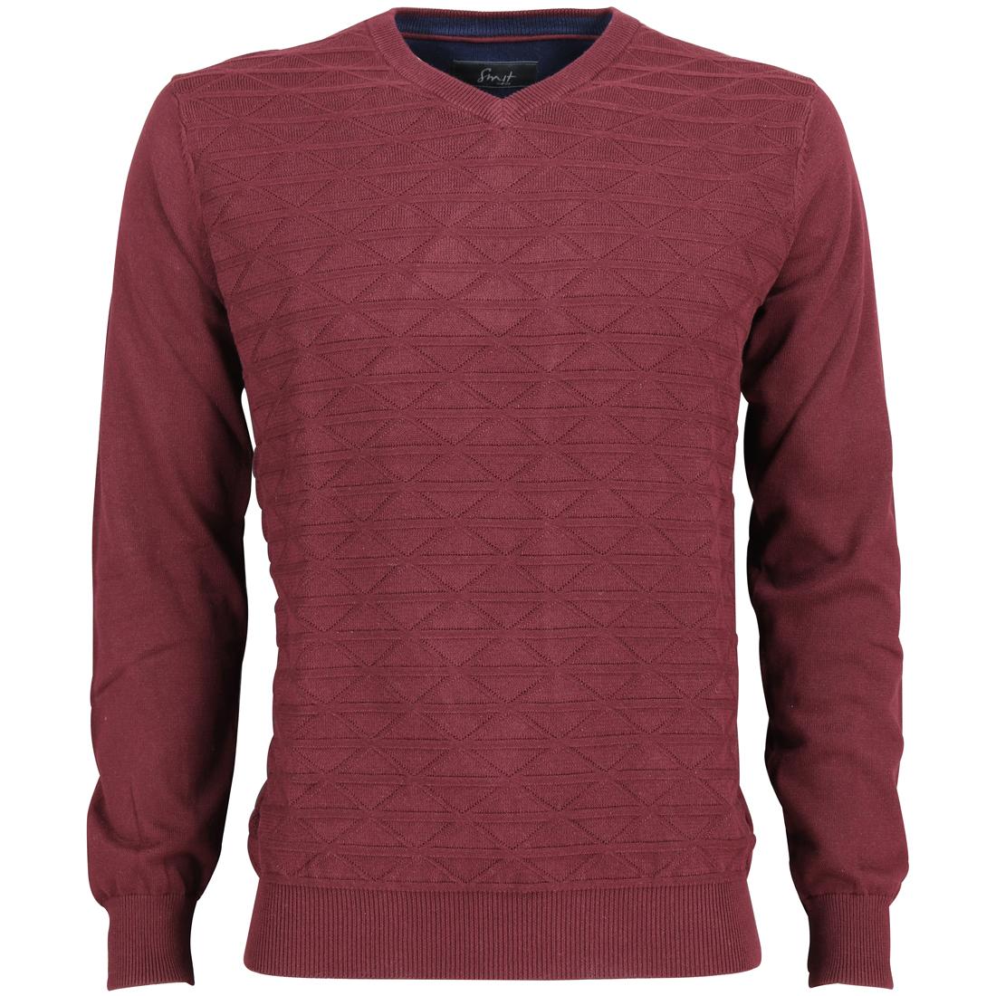 Smit Mode trui 82-8106-6 in het Donker Rood