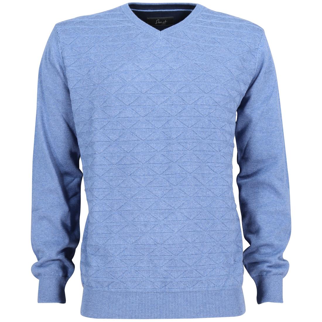 Smit Mode trui 82-8106-6 in het Licht Blauw