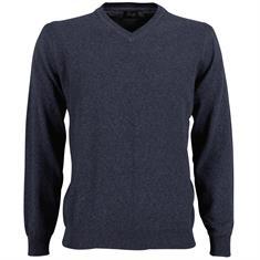Smit Mode v-hals trui 81-8105-8 in het Donker Blauw