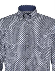 State of Art casual overhemd 21420203 in het Kobalt