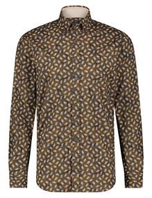 State of Art casual overhemd 21420226 in het Donker Bruin