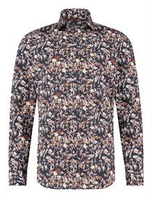 State of Art casual overhemd 21420347 in het Donker Bruin
