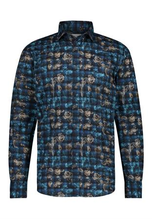 State of Art casual overhemd 21421210 in het Donker Blauw