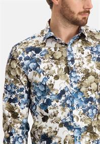 State of Art casual overhemd Regular Fit 21411203 in het Kobalt