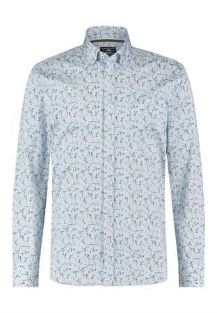 State of Art casual overhemd Regular Fit 21411212 in het Licht Blauw