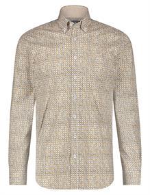 State of Art casual overhemd Regular Fit 21420200 in het Donker Bruin