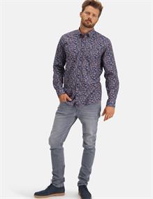State of Art casual overhemd Regular Fit 21420240 in het Brique