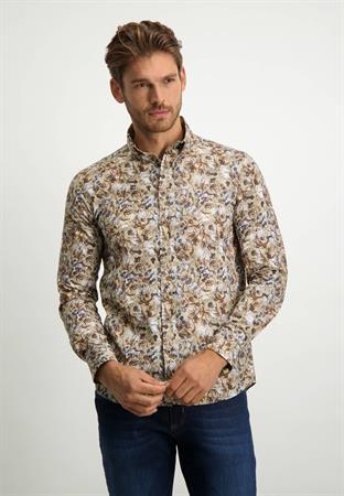State of Art casual overhemd Regular Fit 21421168 in het Camel