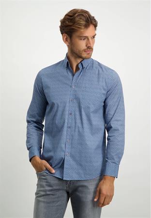 State of Art casual overhemd Regular Fit 21421224 in het Kobalt