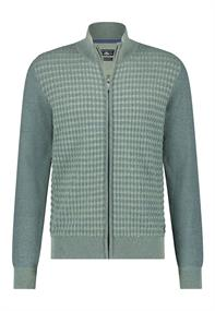 State of Art gebreid vest Regular Fit 16111129 in het Groen