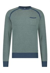 State of Art ronde hals trui Regular Fit 11411137 in het Denim
