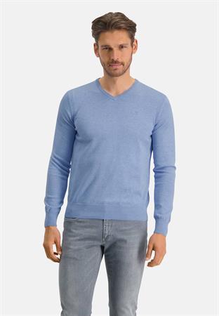 State of Art v-hals trui Regular Fit 12111139 in het Blauw