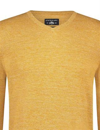 State of Art v-hals trui Regular Fit 12111150 in het Oranje