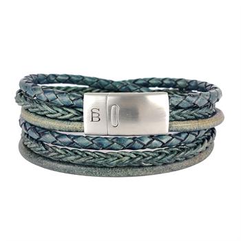 Steel & Barnett sieraden Bonacci. in het Olijf groen