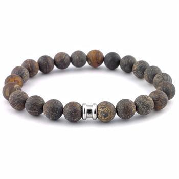 Steel & Barnett sieraden Stones Basic. in het Donker Bruin