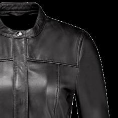 Studio AR by Arma leren blazer 016L206115.01 in het Zwart