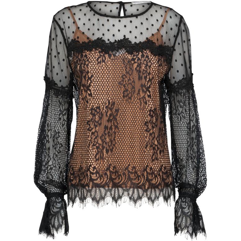 Smit Mode:  Summum blouse 2s2079 10681 in het Zwart