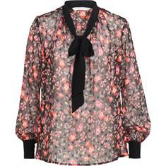 Summum blouse 2s2089-10651 in het Wit/Blauw